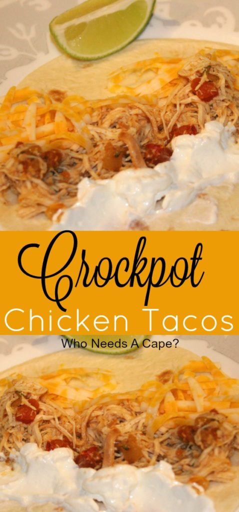 If you need a simple meal, look no further than Crockpot Chicken Tacos. Make as a freezer meal, just pop into the slow cooker and dinner is done!