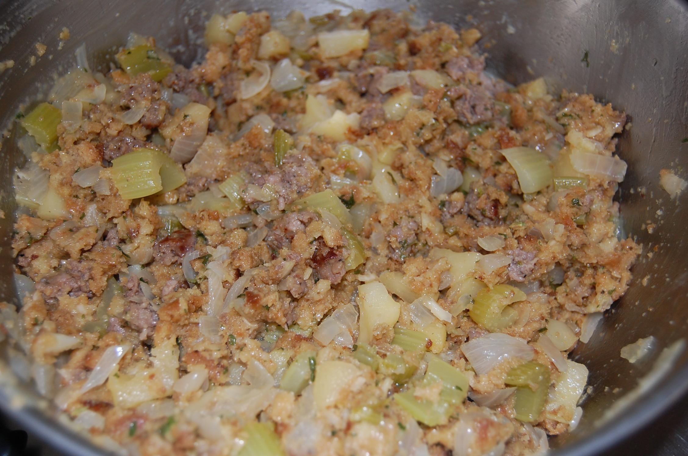 Semi-Homemade Apple Sausage Stuffing