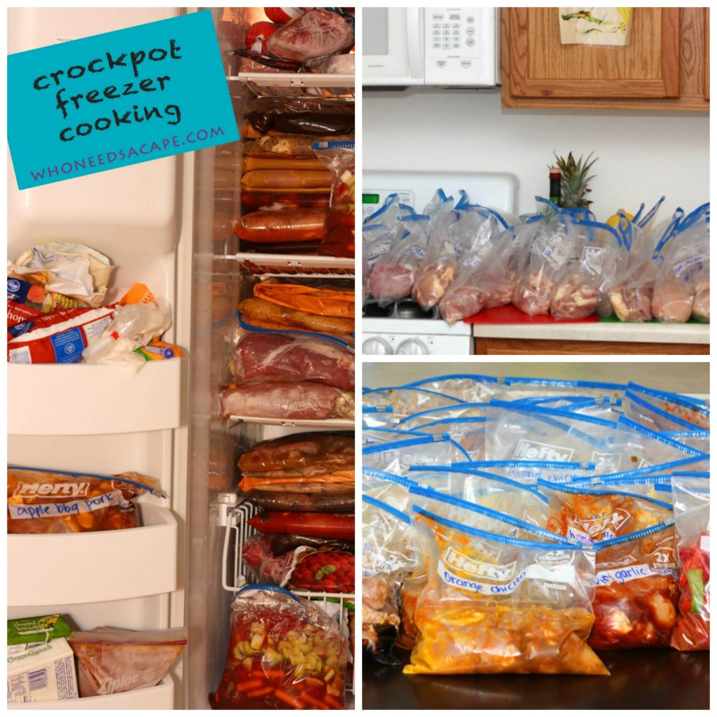 40 Meals in 4 Hours Crockpot Slow Cooker Freezer Cooking