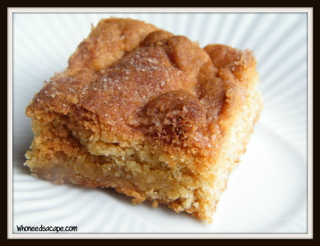 Snickerdoodle Bars | Who Needs A Cape?