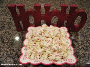 White Chocolate Candy Cane Popcorn 1