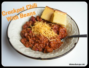 Crockpot Chili With Beans | Who Needs A Cape?