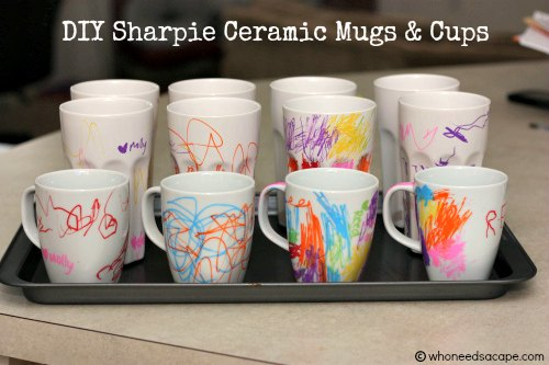 Sharpie ceramic mugs and cups diy sharpie ceramic mugs and cups solutioingenieria Image collections