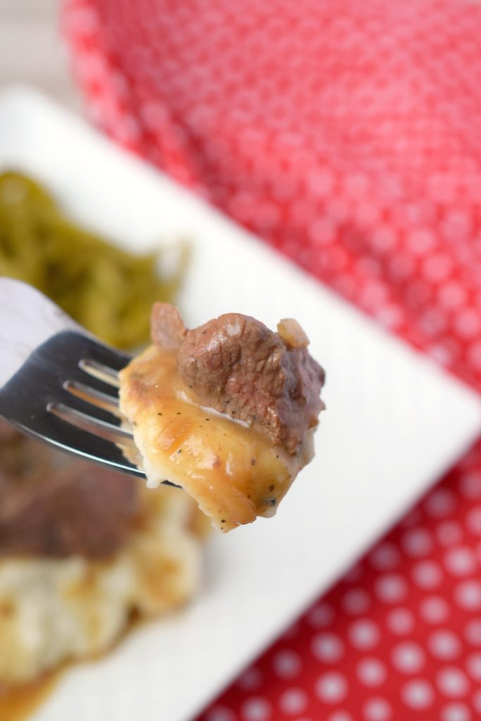 Comfort food at its very best! Slow Cooker Beef Tips & Gravy is the perfect meal for delivering homemade flavors with your crockpot. Great freezer meal too!