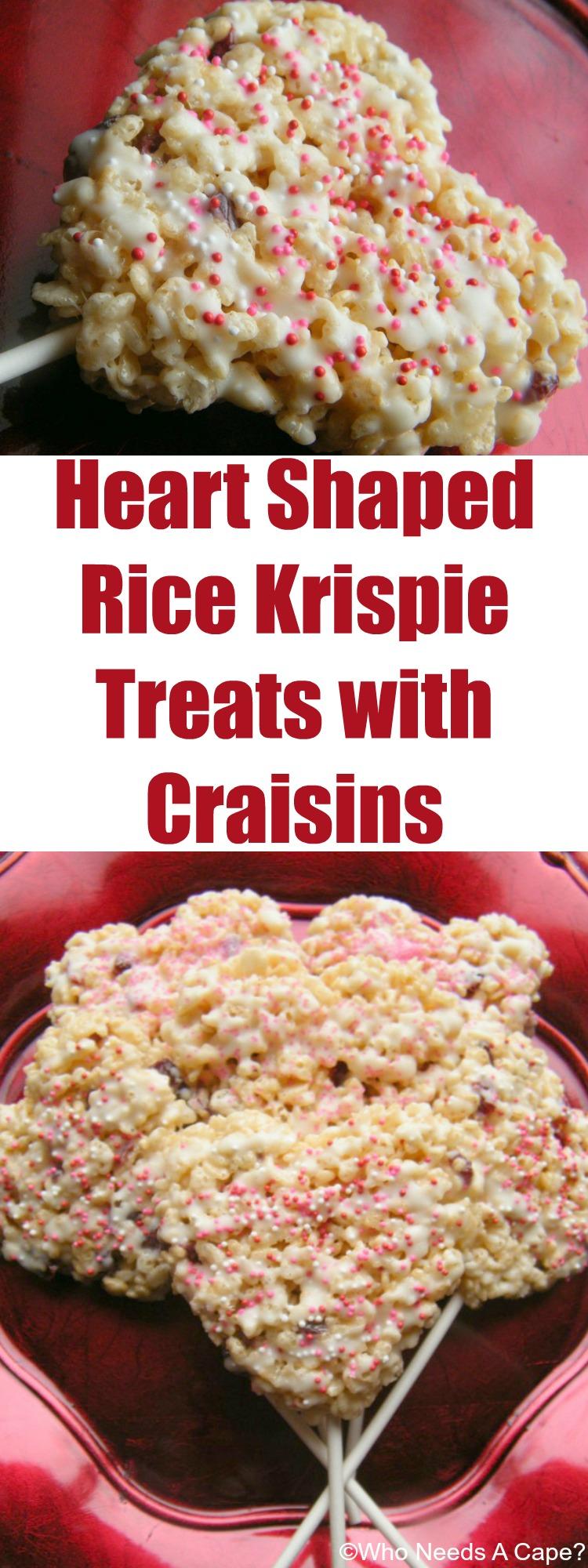 Heart Shaped Rice Krispie Treats with Craisins - Who Needs ...