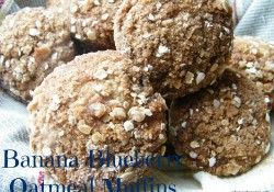 Banana Blueberry Oatmeal Muffins | Who Needs A Cape?