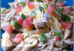 Chicken Enchilada Penne Pasta | Who Needs A Cape?