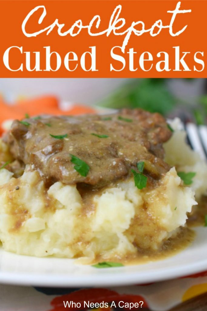 Don't you love a hearty meal that's easy to make? Crockpot Cubed Steaks is just that! Cooked in a slow cooker means it is oh so tender & good!