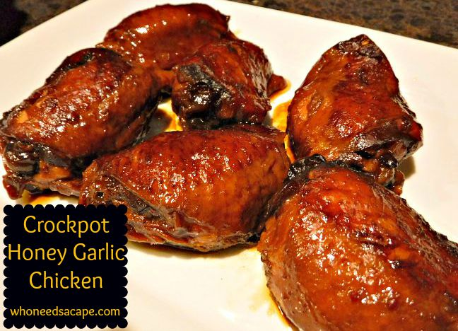 crockpot honey garlic chicken 3