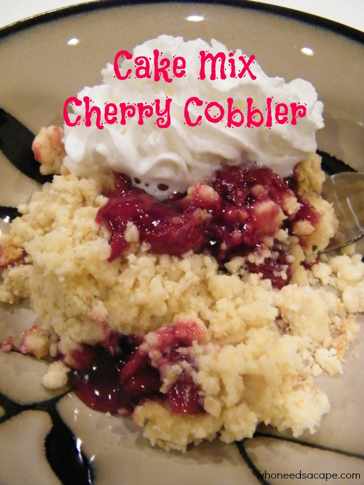 Easy Cherry Cobbler Recipe With Cake Mix