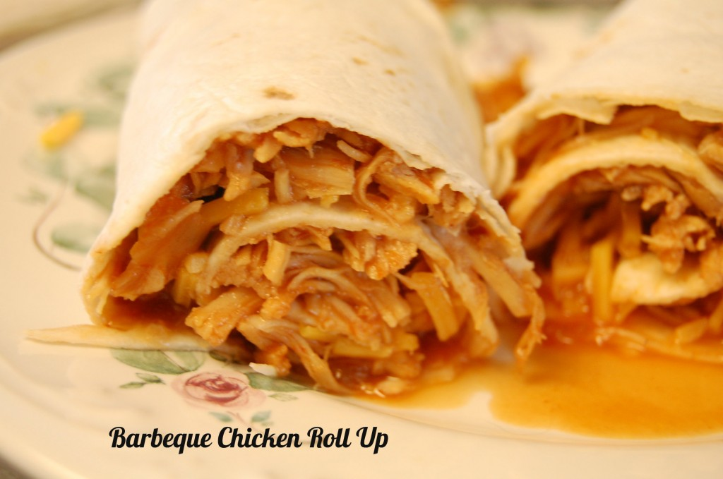 Barbeque chicken roll ups in the crock pot who needs a cape