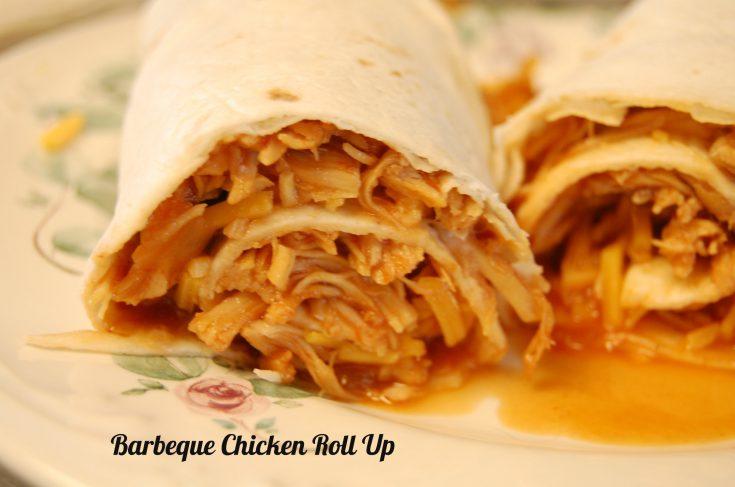 Crock Pot Barbeque Chicken Roll Ups