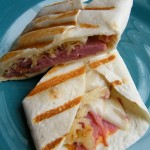 Grilled Reuben Tortilla Wrap