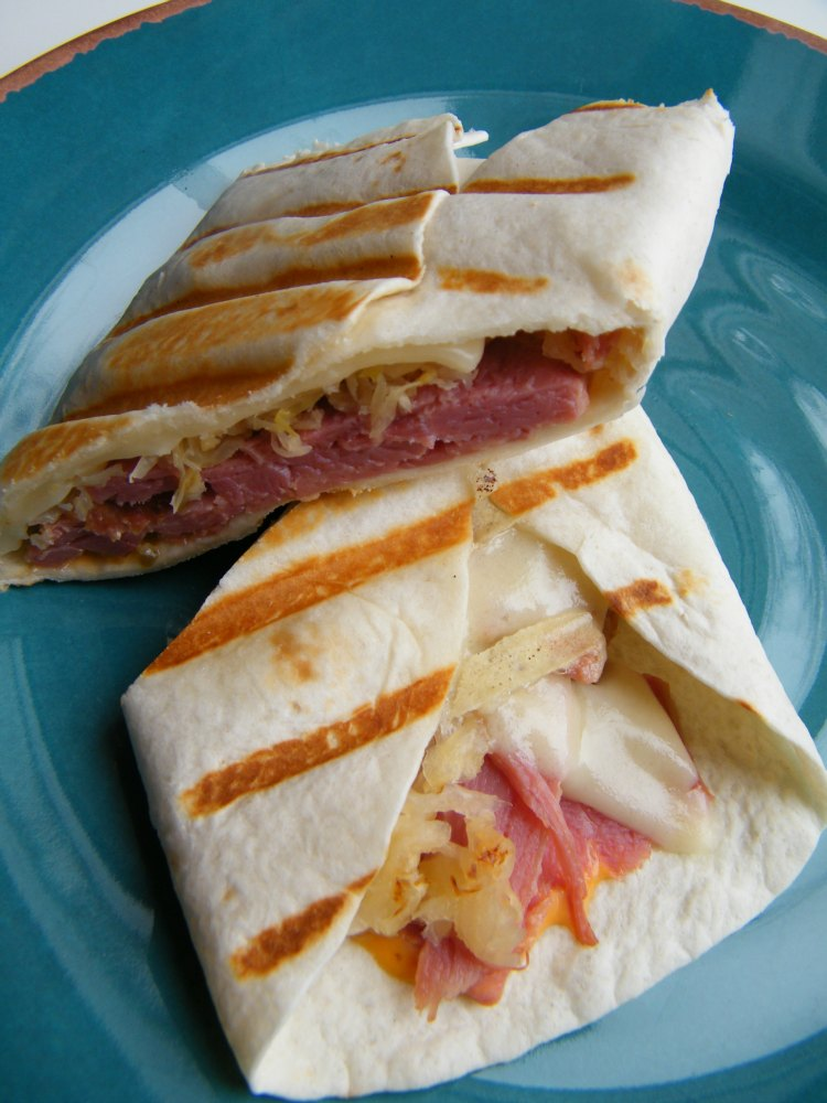Grilled Reuben Tortilla Wrap