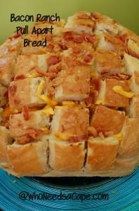 Bacon Ranch Pull Apart Bread