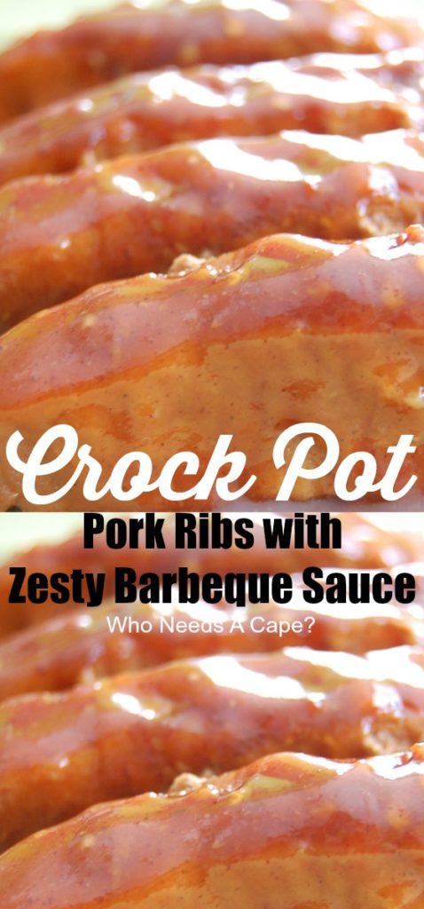 Need a tasty meal that only takes minimal prep work? Crock Pot Pork Ribs with Zesty Barbeque Sauce will be a new family favorite, they are delish!