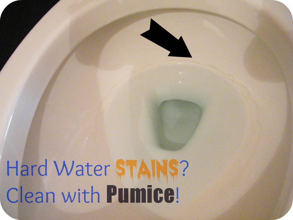 Flush Hard Water Stains Down The Toilet