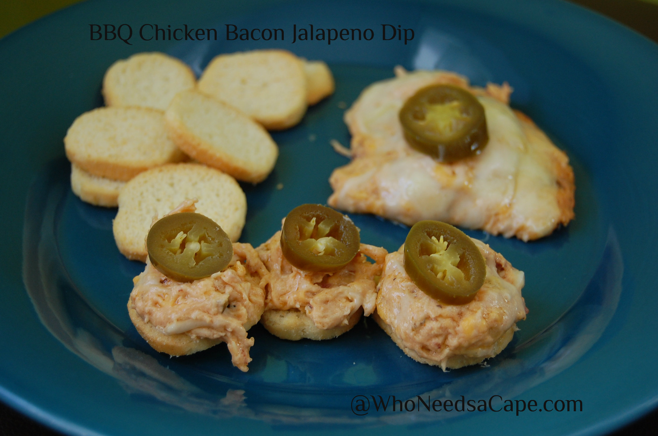 Oh do we have a fantastic dip for your next party of Super Bowl feasting! BBQ Chicken Bacon Jalapeno Dip is flavor-loaded and so delicious!
