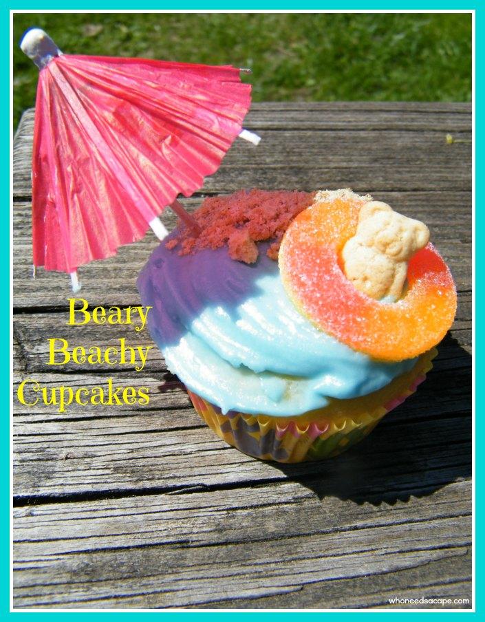 Beary Beachy Cupcakes