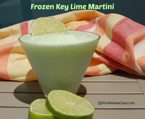 Frozen Key Lime Martini | Who Needs A Cape?