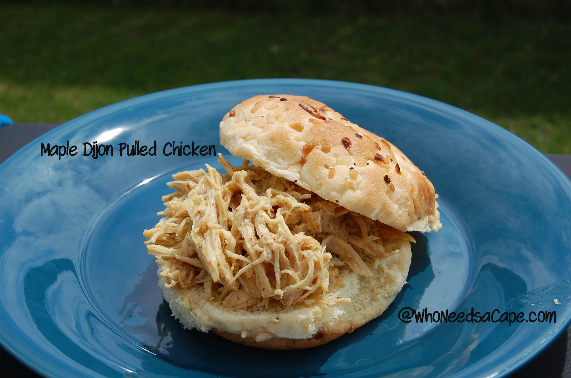 Crock Pot Maple Dijon Pulled Chicken