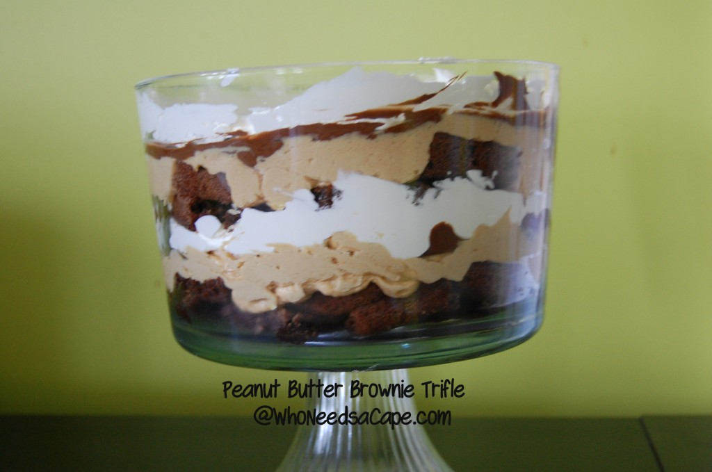 If you love chocolate and peanut butter than you must try this amazing Peanut Butter Brownie Trifle. Such a delicious and easy dessert.