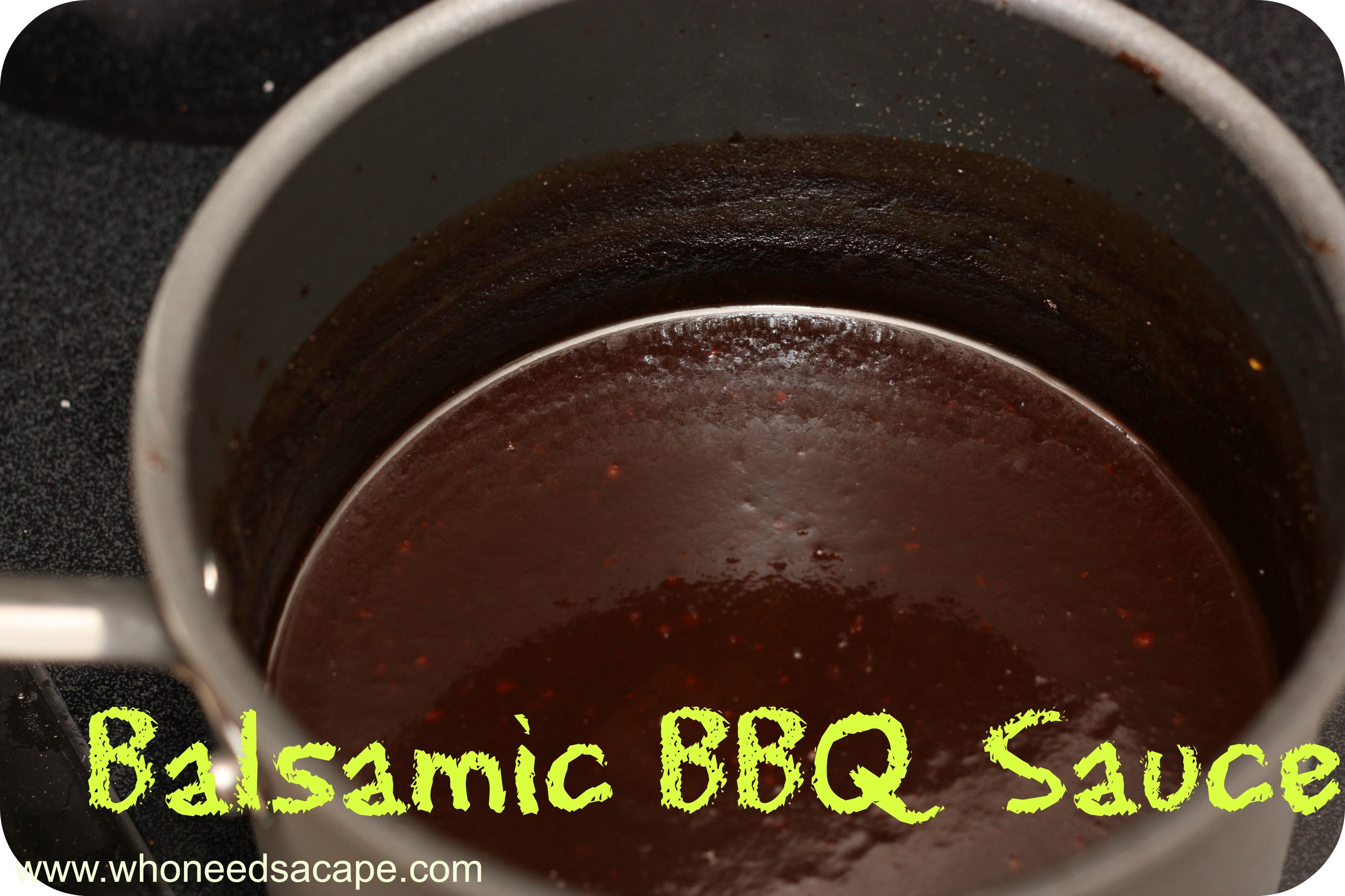 Balsamic BBQ Sauce {Paleo}