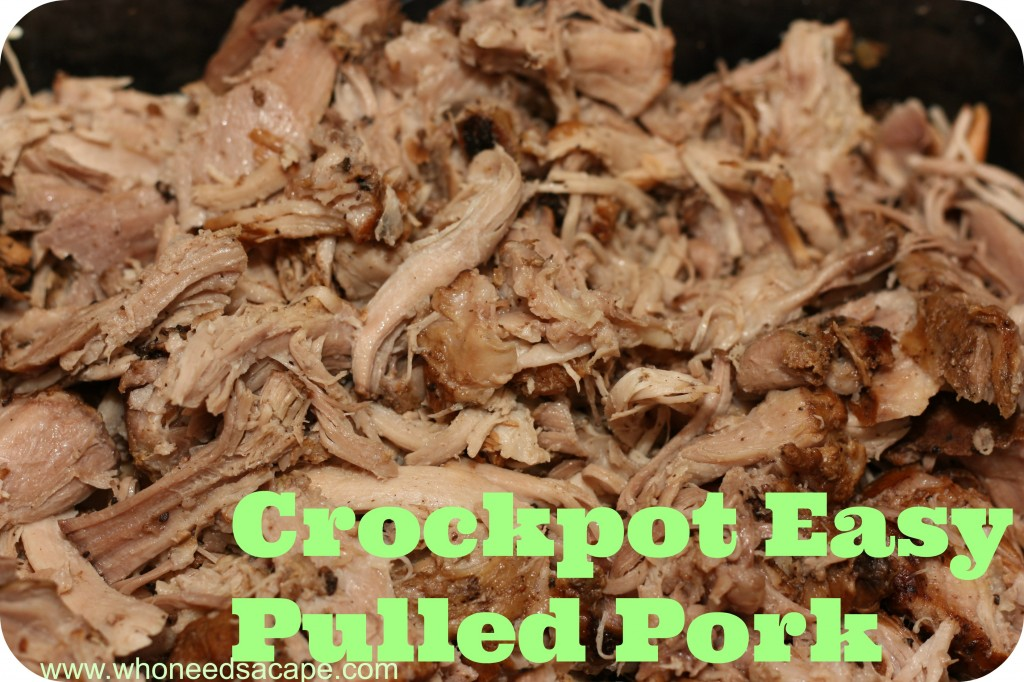Crockpot Easy Pulled Pork - Who Needs A Cape?