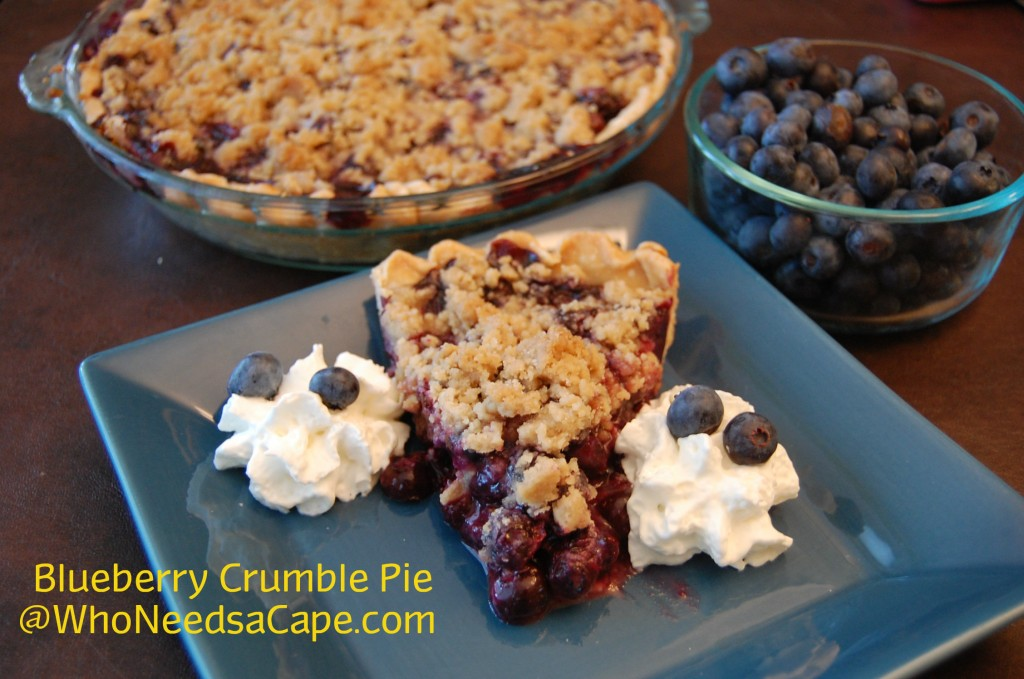 Blueberry Crumble Pie - Who Needs A Cape?