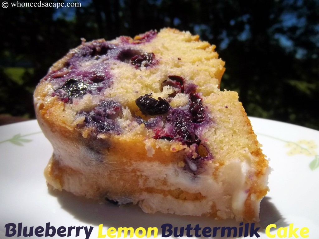The freshest flavors of the summer season come together in this delightful Blueberry Lemon Buttermilk Cake! Easy to prepare and oh so good!