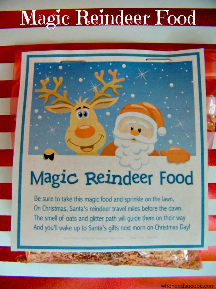 Magic Reindeer Food - Who Needs A Cape?