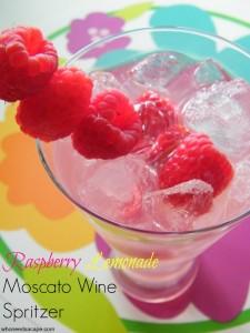 Raspberry Lemonade Moscato Wine Spritzer   Who Needs A Cape?