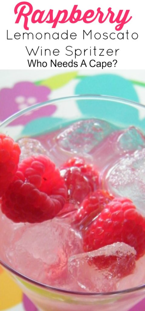 This Raspberry Lemonade Moscato Wine Spritzer is an enjoyable cocktail that's easy to make. Perfect for summertime sipping.
