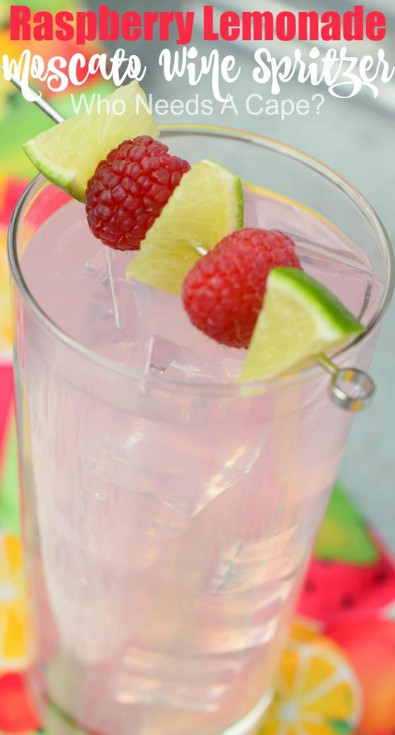 Raspberry Lemonade Moscato Wine Spritzer