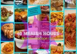 Master Shopping List 40 meals in 4 hours