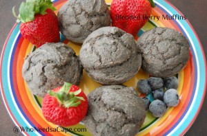 Blended Berry Muffins   Who Needs A Cape?