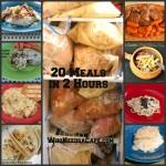 20 Meals in 2 Hours – Slow Cooker Freezer Meals!