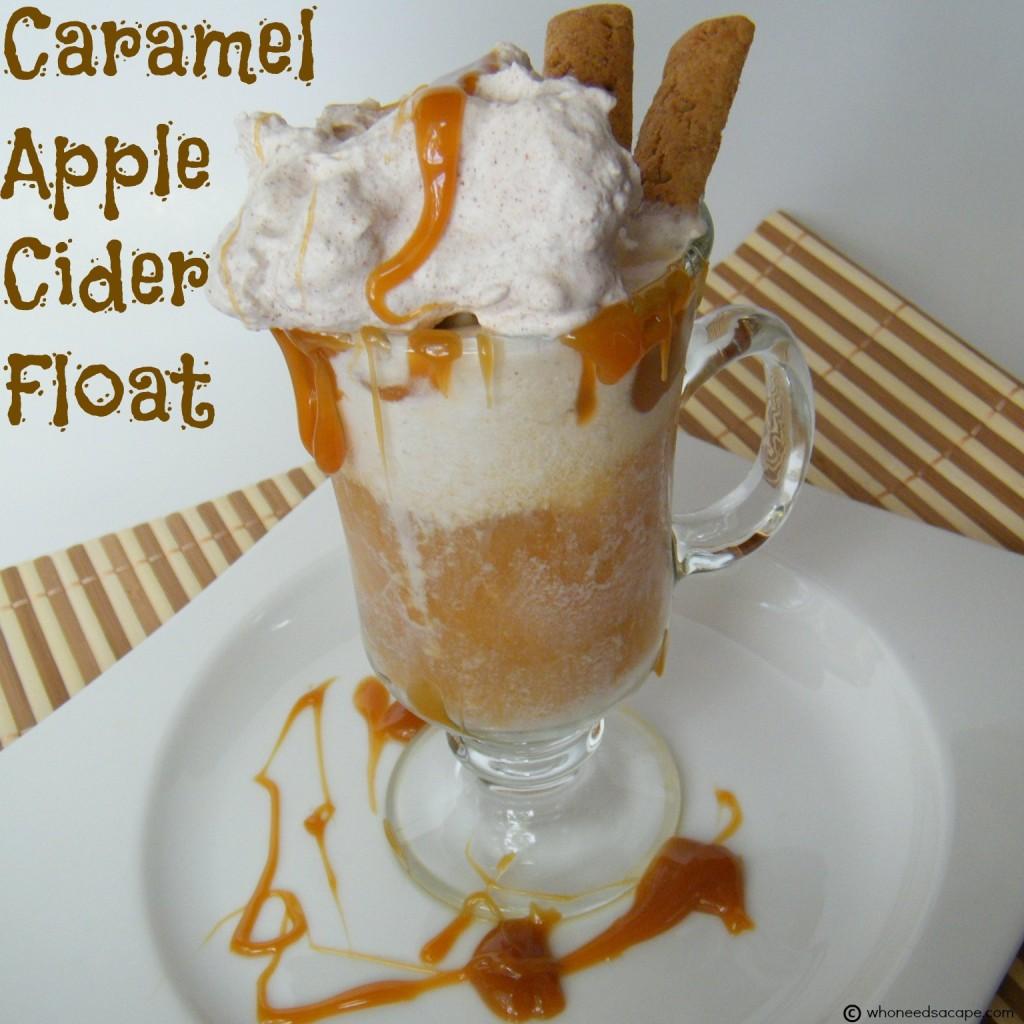 Caramel Apple Cider Float | Who Needs A Cape?
