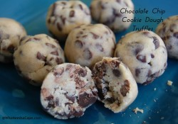 Chocolate Chip Cookie Dough Truffles | Who Needs A Cape?