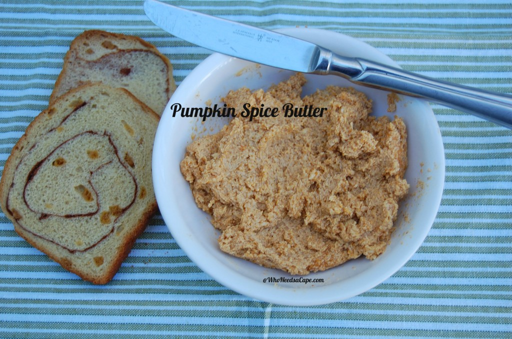 Everything from toast to muffins to biscuits will thank you for spreading on Pumpkin Spiced Butter Spread. A delicious addition to baked goods!