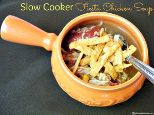 Slow Cooker Fiesta Chicken Soup