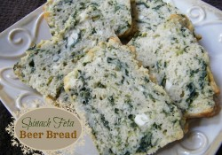 Spinach Feta Beer Bread