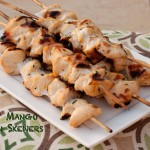 Mango Curry Chicken Skewers