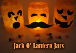 Jack O' Lantern Jars