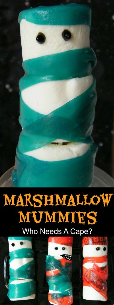 These Marshmallow Mummies are such a fun Halloween treat to make with your kids. Just a tiny bit spooky and a whole lot of yummy, you'll love them.