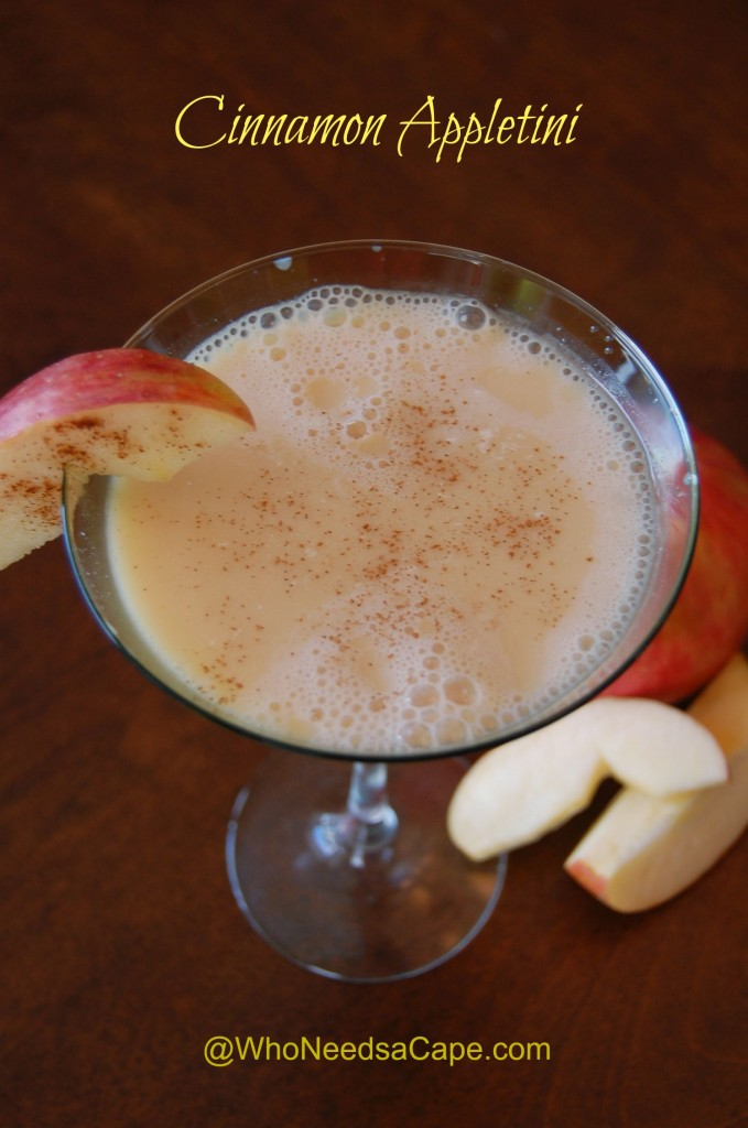 Cinnamon Appletini | Who Needs A Cape?
