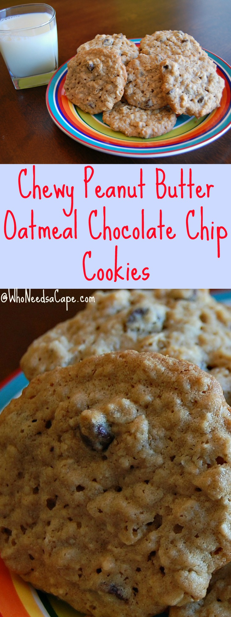 how to make chewy peanut butter oatmeal cookies