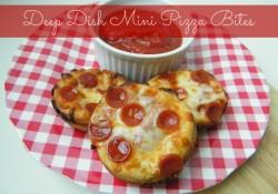 Deep Dish Mini Pizza Bites