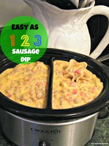 Easy As 1 2 3 Sausage Dip
