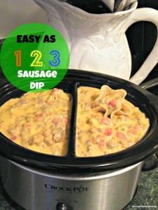 Easy As 1 2 3 Sausage Dip